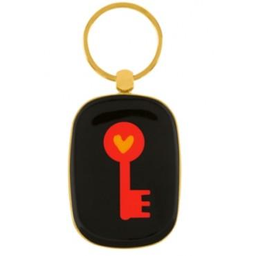 Porte-clés DLP - Doré Clé Rouge
