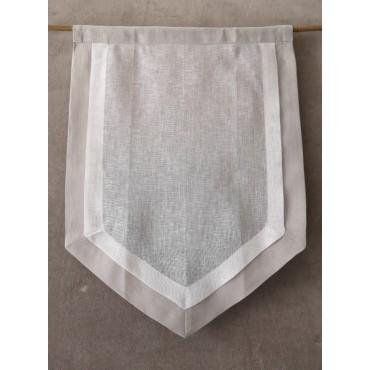 Paire de Rideaux BRISE BISE N°202 Lin Blanc Gris  45 x 60