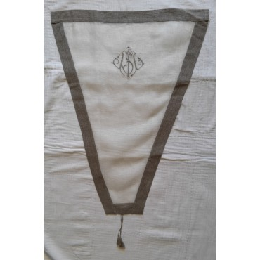 Brise-Bise Lin Ecru/Beige N°206  Rideau 60 x 80
