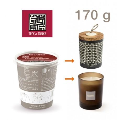 ESTEBAN Bougie parfum/ée Teck /& Tonka