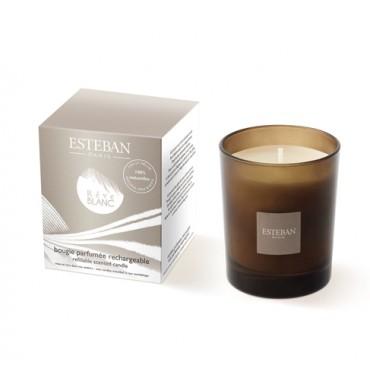 Bougie Parfumée Rechargeable Edition Moka ESTEBAN - Rêve Blanc