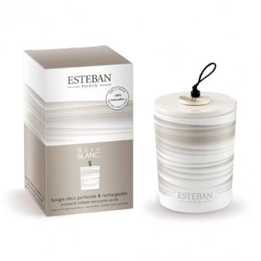 Bougie Déco Parfumée Rechargeable ESTEBAN - Rêve Blanc