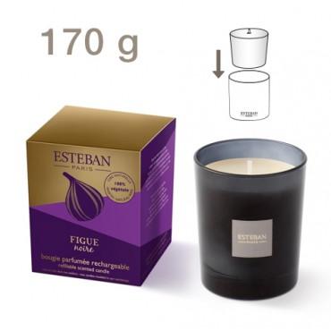 Bougie Parfumée Rechargeable Edition Azur ESTEBAN - Figue Noire