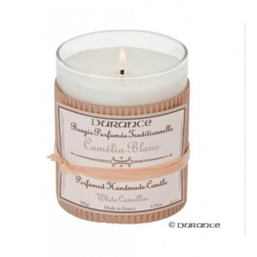 Bougie Parfumée Durance Camélia Blanc